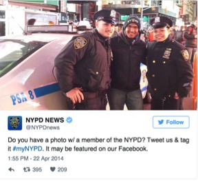 Man smiling with NYPD for biggest mistakes brands make on Twitter